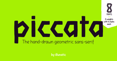 Piccata [8 Fonts] | The Fonts Master
