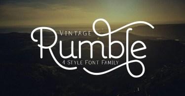 Rumble [7 Fonts] | The Fonts Master
