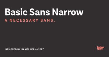 Basic Sans Narrow Super Family [28 Fonts]