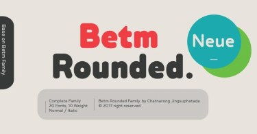 Betm Rounded Super Family [20 Fonts]   The Fonts Master