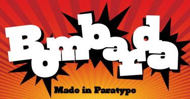 Bombarda [1 Font] | The Fonts Master