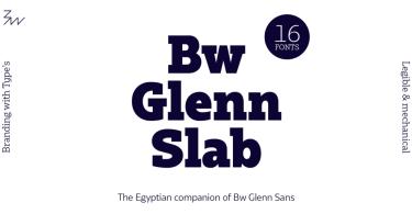 Bw Glenn Slab Super Family [16 Fonts] | The Fonts Master