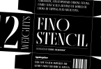 Fino Stencil Super Family [24 Fonts] | The Fonts Master
