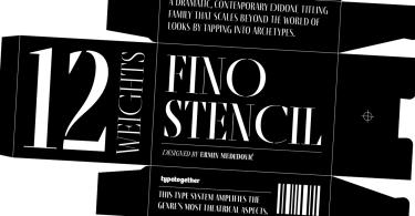Fino Stencil Super Family [24 Fonts]