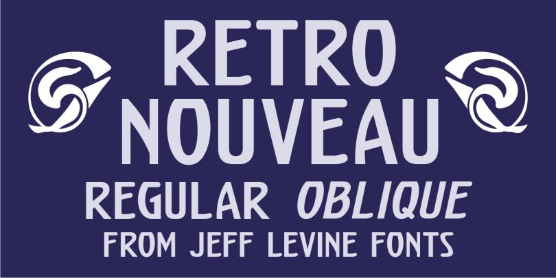 Retro Nouveau Jnl [2 Fonts]   The Fonts Master