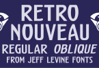 Retro Nouveau Jnl [2 Fonts] | The Fonts Master
