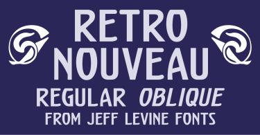 Retro Nouveau JNL [2 Fonts]