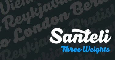 Santeli [3 Fonts] | The Fonts Master