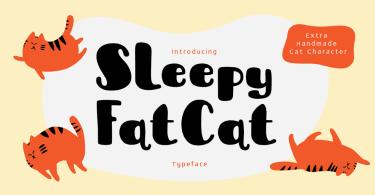 Sleepy Fat Cat [2 Fonts]   The Fonts Master