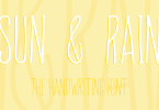 Sun &Amp; Rain [3 Fonts] | The Fonts Master