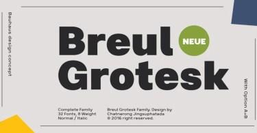 Breul Grotesk Super Family [32 Fonts] | The Fonts Master
