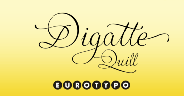 Digatte Quill [1 Font] | The Fonts Master