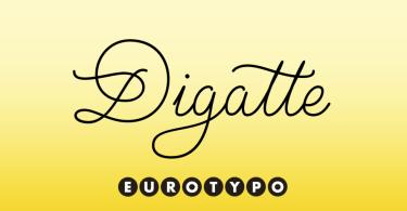 Digatte [2 Fonts] | The Fonts Master