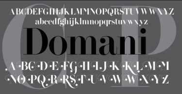 Domani Cp [1 Font] | The Fonts Master