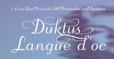 Duktus [4 Fonts] | The Fonts Master