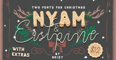 NYAM & Eastpine [7 Fonts + Extras]