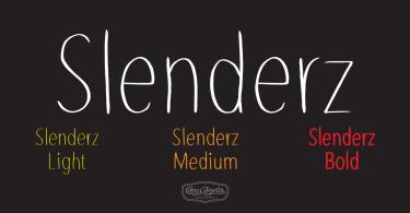 Slenderz [3 Fonts] | The Fonts Master