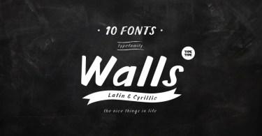 Tt Walls [10 Fonts]   The Fonts Master