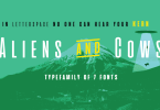 Aliens &Amp; Cows [7 Fonts] | The Fonts Master