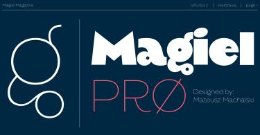 Magiel Pro [2 Fonts]   The Fonts Master