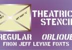 Theatrical Stencil Jnl [2 Fonts] | The Fonts Master