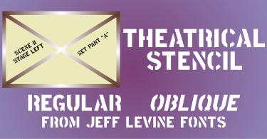 Theatrical Stencil JNL [2 Fonts]
