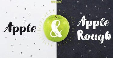 Apple &Amp; Apple Rough [2 Fonts] | The Fonts Master