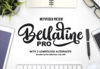 Bellatine Pro [3 Fonts] | The Fonts Master