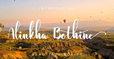 Alinkha Bothine [1 Font]