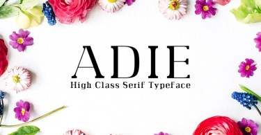 Adie [4 Fonts] | The Fonts Master