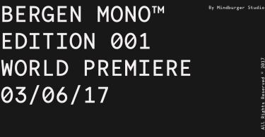 Bergen Mono [6 Fonts] | The Fonts Master