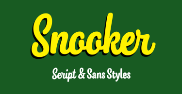 Snooker [8 Fonts]   The Fonts Master