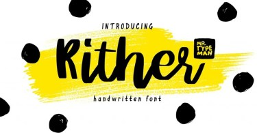 Rither [1 Font] | The Fonts Master