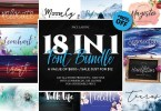 18 In 1 Font Bundle [18 Fonts] | The Fonts Master