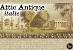 Attic Antique [2 Fonts]   The Fonts Master
