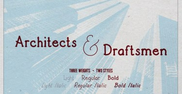 Architects And Draftsmen [6 Fonts] | The Fonts Master
