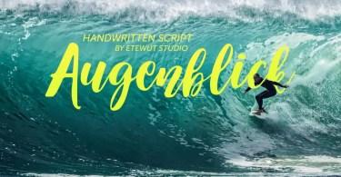 Augenblick [1 Font] | The Fonts Master