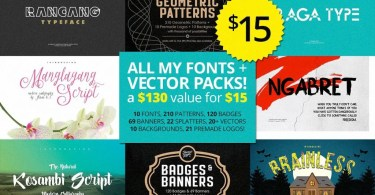 Cleaning Store Bundle [Ihsankl] [6 Font Families + Extras] | The Fonts Master