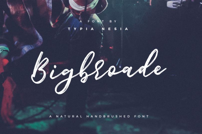 Bigbroade [1 Font]   The Fonts Master
