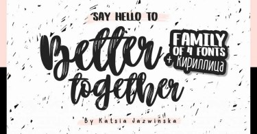 Better Together [4 Fonts] | The Fonts Master