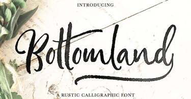 Bottomland [1 Font] | The Fonts Master