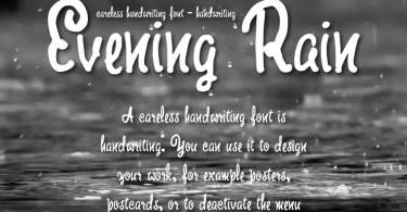 Evening Rain [1 Font + Extras]   The Fonts Master