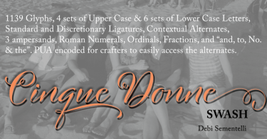 Cinque Donne [4 Fonts] | The Fonts Master