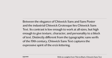 Chiswick Sans Text [12 Fonts] | The Fonts Master