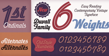 Duvall [8 Fonts] | The Fonts Master
