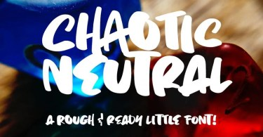 Chaotic Neutral [1 Font]   The Fonts Master