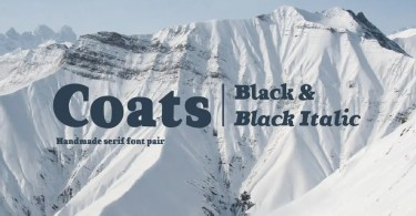 Coats Black &Amp; Coats Black Italic [2 Fonts] | The Fonts Master
