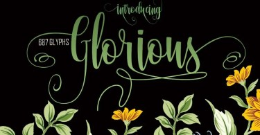 Glorious [1 Font] | The Fonts Master