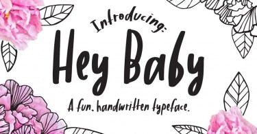 Hey Baby [1 Font] | The Fonts Master