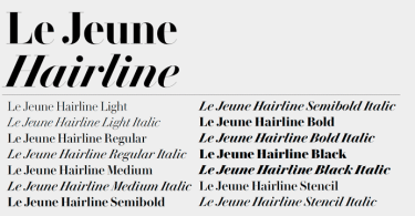 Le Jeune Hairline Super Family [14 Fonts] | The Fonts Master